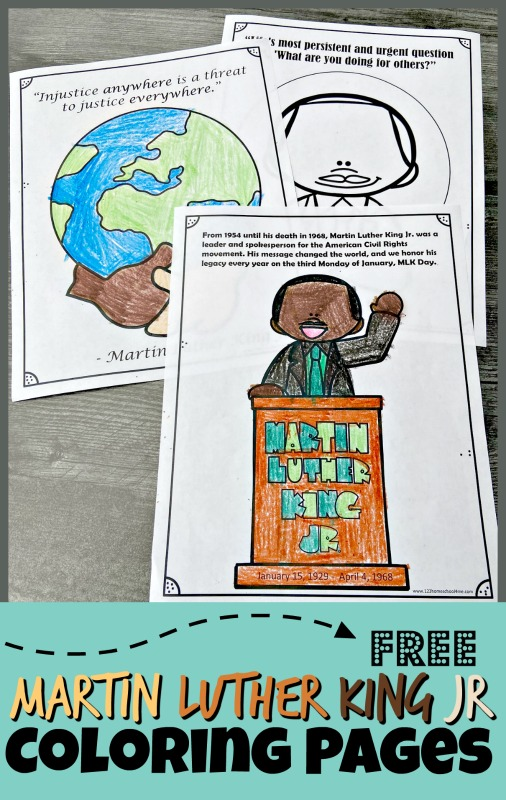 FREE Martin Luther King Jr Coloring Page S