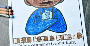 Martin Luther King Printables As children color the pages as part of of yourMartin Luther King Jr Day Activities, kid swill learn more about this important figure in American history. Thesemartin luther king coloring page are great for adding to your lesson.