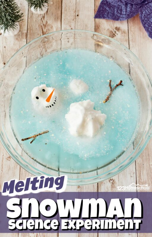 Kids will have fun with this melting snowmanwhere they will melt the snowman using a funwinter science experiment. Thissnowman activity is perfect for toddler, preschool, pre-k, and kindergarten to sneak in a fun winter STEM activity where they will build a snowman and then melt it withsnow science experimentsobserving simple chemistry for kids.