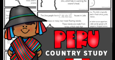 Learn about Peru for Kids with these printables to read, color and learn about this fascinating country in South America with elementary age students.