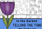 Introduce children in pre-k, preschool, kindergarten, first grade, and 2nd grade to learning to read a clock with these fun Garden themed Telling the Time Worksheets. Concentrating on learning the o'clock and half-past times, these worksheets are a great way to introduce time and reading a clock to your children. Simply download pdf file with clock worksheets and you are ready for fun, free math worksheets with a fun flower theme.