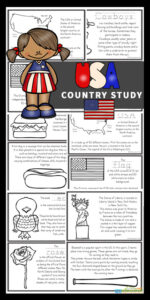 Kids will love learning about the USA for Kids with these free printable United States of America for Kids Books to color, read, and learn!  We've included lots of interesting facts and information, american flag printable, map with major cities, common foods, bald eagle, famous landmarks such as the Statue of Liberty, and so much more! Download pdf file with United States of for kids printable book and get ready to have fun learning!
