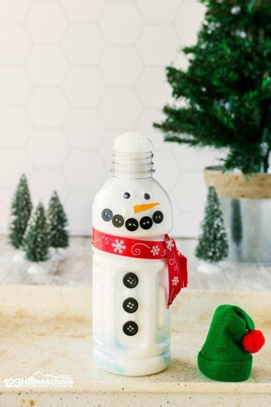 easy snowman Winter Science Experiments for Preschoolers