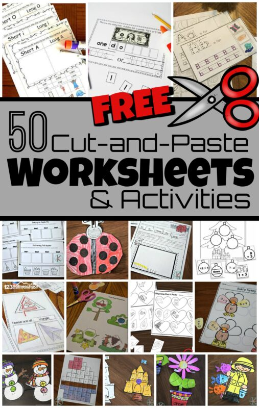 50 FREE Cut And Paste Worksheets
