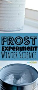 Have your kids ever wondered why frost begins to appear in the morning as winter approaches? This easy frost experiment where children will learn how to make frost is a great visual. This winter science experiment is a fun project for elementary age students in kindergarten, first grade, 2nd grade, 3rd grade, 4th grade, 5th grade, and 6th graders!