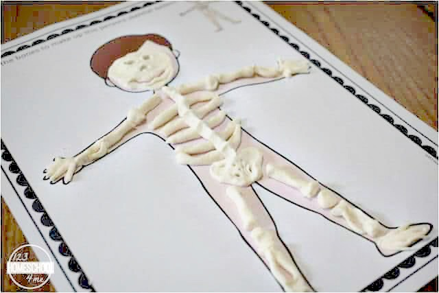human body playdough mats