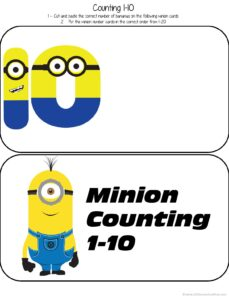 minion counting book