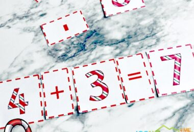 Do you have a child learning simple math equations for numbers 1-10? This Candy Cane Math Equation Puzzle set is the perfect way to help them strengthen their math skills. They can work on any number combination that they need to with this candy cane printables. Thischristmas math activity is perfect for preschool, pre-k, kindergarten, and first grade students. Simply download pdf file withchristmas activities for kindergartners and you are ready to play and learn.