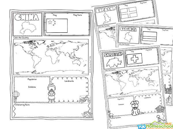 Countries of the World Worksheets