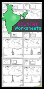Children will love learning about over thirty different countries from around the world for kids with these fun Country Worksheets. Grab these free printable Country Worksheets for first grade, 2nd grade, 3rd grade, 4th grade, 5th grade, and 6th grade students to make learning about countries for kids - including different cultures, country map, country flag, where in the world, famous landmarks, interesting facts, population, and emblems fun and easy! Simply print pdf file with countries and nationalities worksheet pdf and you are ready to learn!