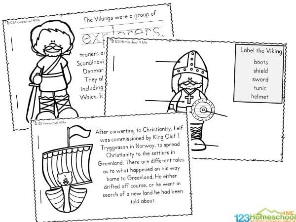 Leaf Eriksson for Kids printable worksheets