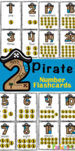 pirate Number-Flashcards-Printable