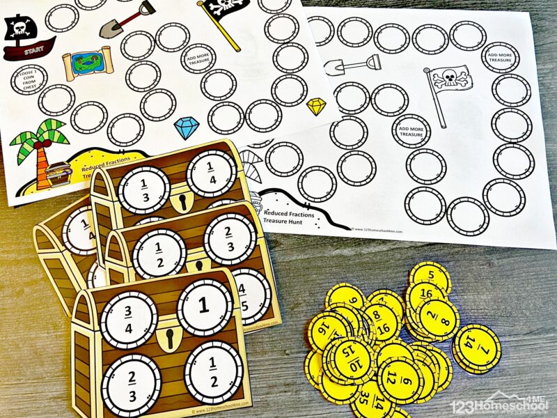 Reduction Fractions Game