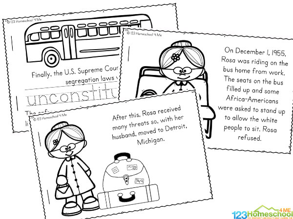 free Rosa Parks Printable