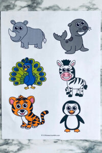 Zoo animal activities for toddlers