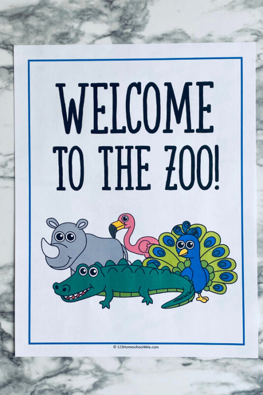 Zoo animals activities for preschoolers
