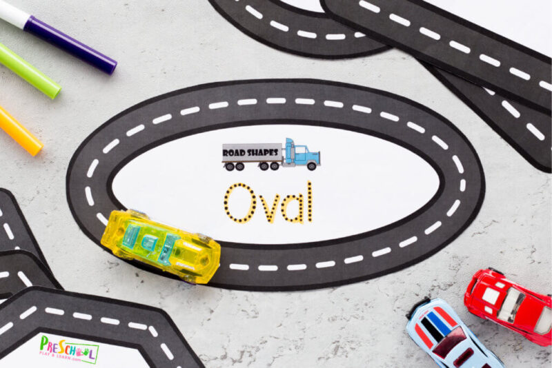 road shapes activity for kids
