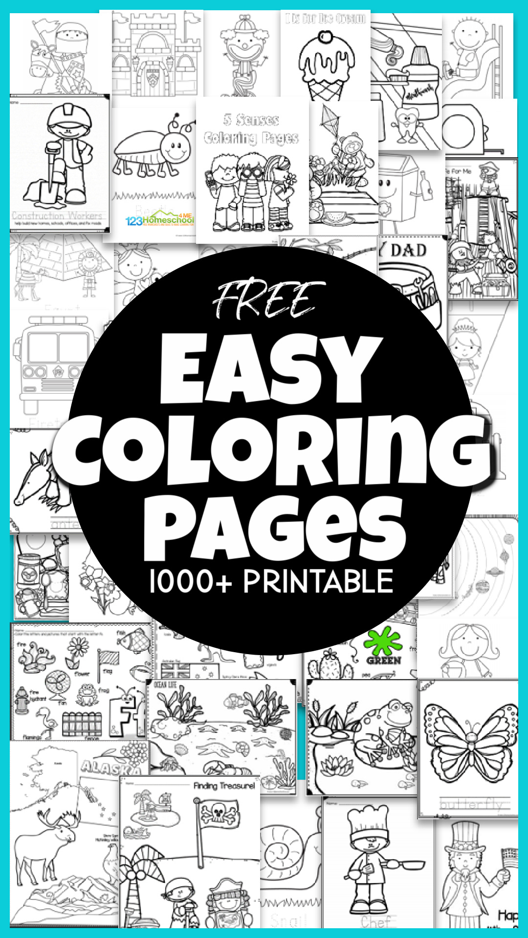 🖍️ FREE Free Printable, EASY Coloring Pages over 18 pages