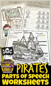 These super cute, clever, and FUN PirateParts of Speech Worksheets are a great way to help students practice identifying nouns, verbs, and adjectives while having fun. Each of thesepirate worksheetshas a different activity to practice identifying parts of speech. These worksheets parts of speech are perfect for first grade, 2nd grade, 3rd grade, 4th grade, 5th grade, and 6th graders. Simply download pdf file with parts of speach worksheets and get ready to have fun playing and learning!