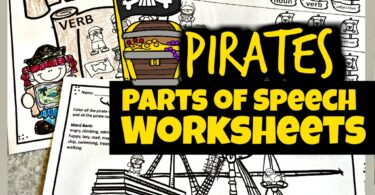 These super cute, clever, and FUN Pirate Parts of Speech Worksheets are a great way to help students practice identifying nouns, verbs, and adjectives while having fun. Each of these pirate worksheets has a different activity to practice identifying parts of speech. These worksheets parts of speech are perfect for first grade, 2nd grade, 3rd grade, 4th grade, 5th grade, and 6th graders. Simply download pdf file with parts of speach worksheets and get ready to have fun playing and learning!