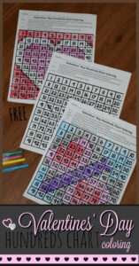 color by number valentines day worksheets to practie numbers 1-100 as kids color by code