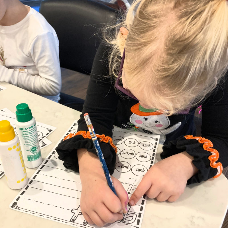 1st grade worksheets with dot markers