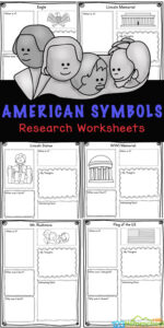 hildren will love learning about twelve different symbols of the united states with these fun and free printable american symbols worksheets. These us symbols worksheet are great for learning about the usa for kids. Grab these free printableunited states worksheets for first grade, 2nd grade, 3rd grade, 4th grade, 5th grade, and 6th grade students to make learning about America fun and easy!
