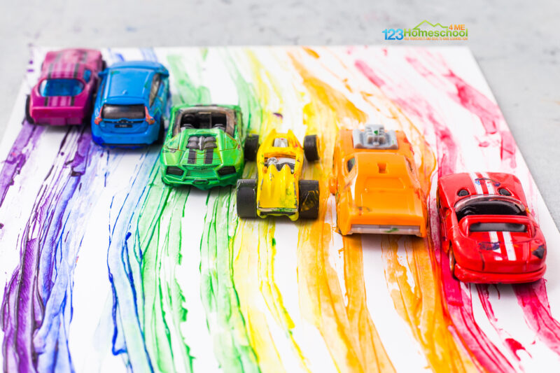 Car Track Painting