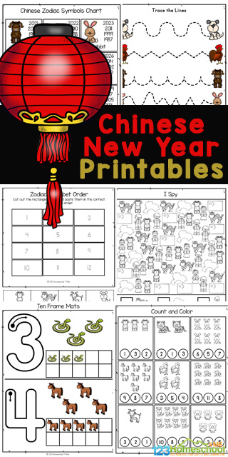 Grab this HUGE pack of Chinese New Year Worksheets to help children practice a variety of math and litearcy skills while celebrating a fun China New Years theme! These Chinese New Year Printables are filled with engaging Chinese New Year activities and cute clipart images of chinese lanterns, dragons, Zodiac Animals of the Chinese New Year, chinese flag, chinese map, chinese girl and chinese boy in traditional clothes, and more. There are a variety of china worksheets to not only practice letter tracing, shapes, counting, i spy worksheet, and more, but to introduce kids to different cultures including the amazing country of China.