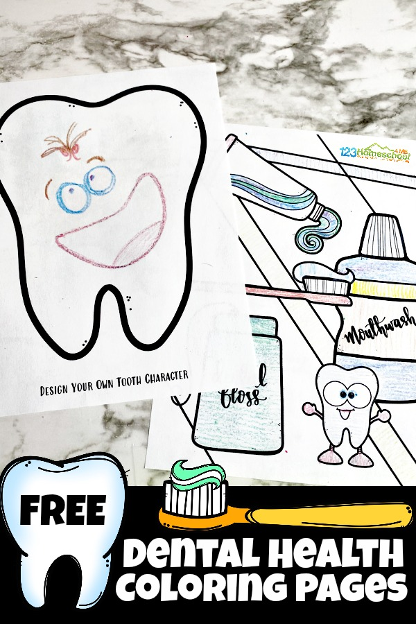 FREE Dental Health Coloring Pages