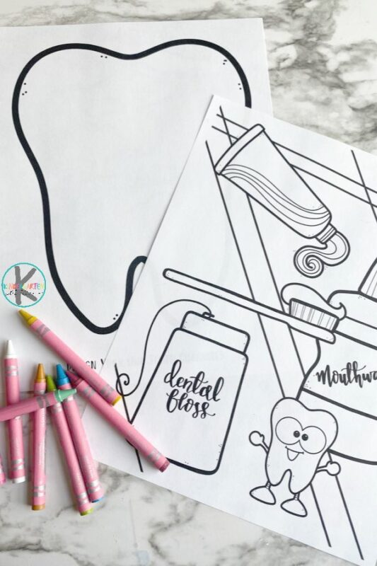 free Dental coloring pages