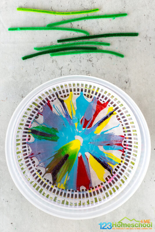 Flower art and craft for preschool
