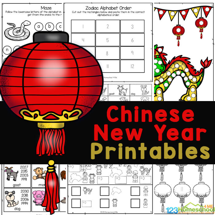 FREE Chinese New Year Worksheets