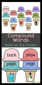 Kids will love this fun using the free ice cream printable for this Ice Cream Themed Compound Words Activity. This fun summer themed literacy activity shas kindergarten, first grade, 2nd grade, and 3rd grade students add ice cream scoop words to create the compound word pictured on the ice cream cone. This is such a fun by Simply download pdf file with compound words exercises and you are ready to play and learn!