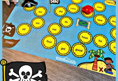 Make practicing primer sight words fun with this super cute, pirate themed Kindergarten Sight Words Game. Thisfree sight word games has a fun pirate theme to keep kids engaged and eager to practice. Download pdf file withsight word activities for kindergarten and you are ready to play and learn as you journey around the treasure map to collect treasures!