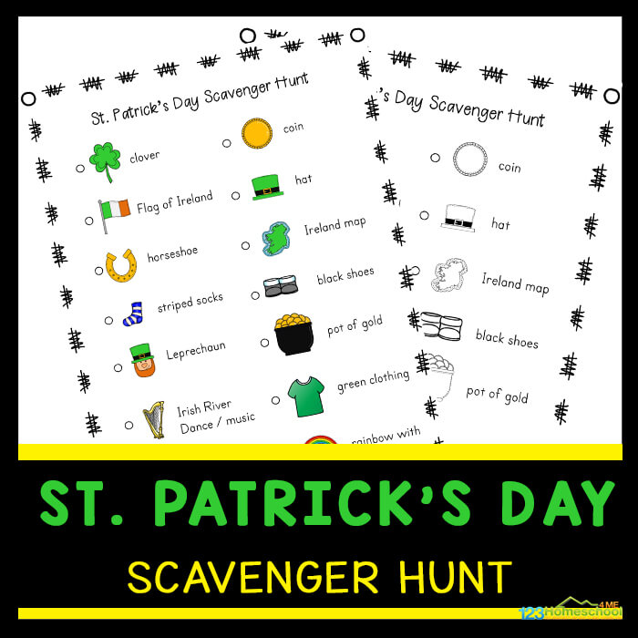 St Patrick's Day Activities for Preschoolers - print in color or black and white