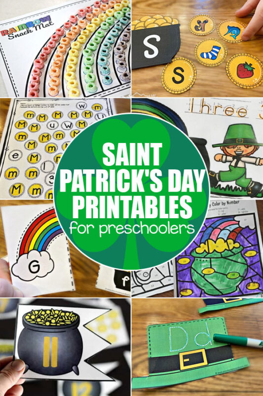 Plan some outrageously fun St Patrick's Day Activities this March with these clever ideas. Thesest patricks day activities are perfect for kids of all ages from toddler, preschool, pre-k, kindergarten, first grade, 2nd grade, and 3rd graders too. We've included lots of St Patrick's Day Activities for Preschoolersaround rainbows, leprechuans, shamrocks, 4-leaf clovers, and more. From science experiments to color activities, treasure hunts,and more! THere is afun st patrick's day activities for everyone!