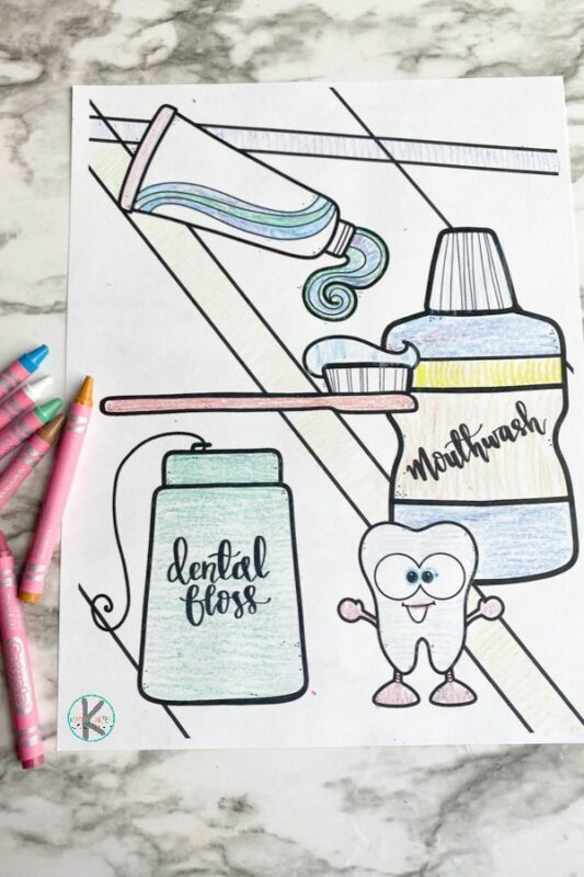 Tooth coloring page