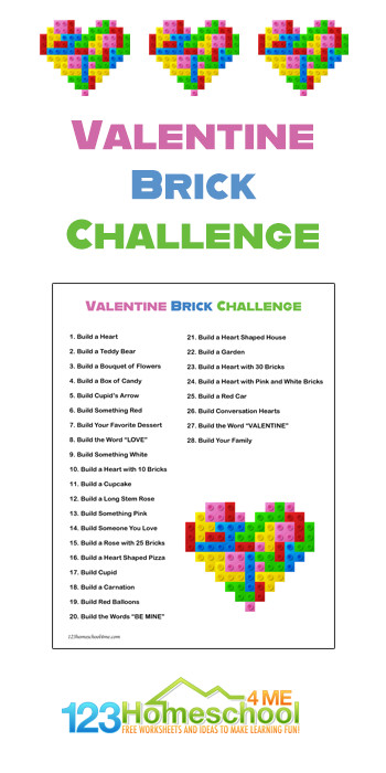 What says love like a brick building challenge? When I was a kidvalentines day lego parties were the biggest thing to look forward to in school during the winter season. The candy and games always made such great memories. Use this valentines day printables as a fun valentines day activity for kids of all ages from preschool, pre-k, kindergarten, first grade, 2nd grade, and 3rd graders. Use thing worksheet, kids will work on designing and buildingvalentines day stem activities with these project ideas!