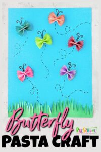 pasta butterfly craft