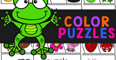 Young children will have fun learning eleven different colors with these fun and free Color Puzzles.This colors printables is a fun way for toddlers, preschoolers, and kindergartners to learn color names and work on color discrimination. This color matching game is perfect for early learners. SImply download pdf file with color activity for toddlers and you are ready to play and learn.