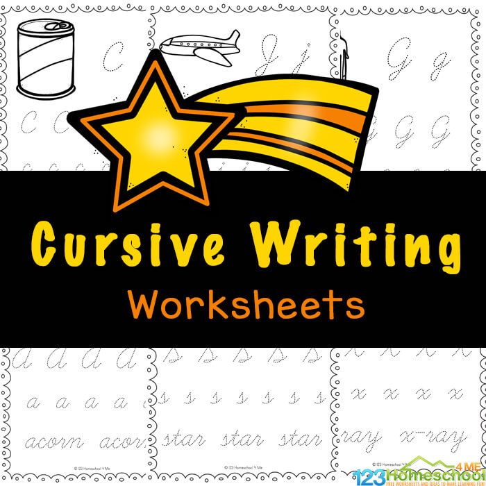 FREE Printable Cursive Writing Worksheets