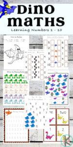 dinosaur math worksheets