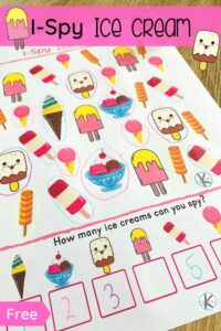 ice cream i spy worksheet