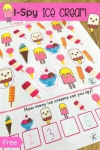 ice cream i spy worksheet