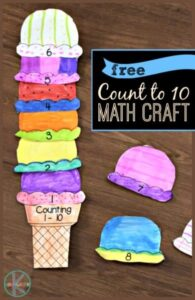 ice cream math craft