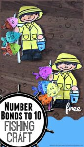 fishing number bonds to 10 craft for kindergarten and first graders
