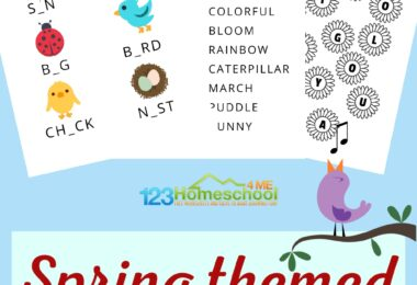 Working on reading and letter recognition with your kindergartener or first grader? Use these vowel worksheets in your spring theme to work on vowels for kids. These Vowels Worksheet for Kindergarten,pre-k, and first grade students help them to learn to recognize vowels in words! Simply download pdf file with vowel worksheets and you are ready to play and learn with these no prepfree printable worksheets.