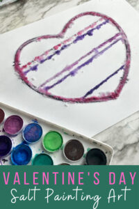 salt painting valentines day craft for february