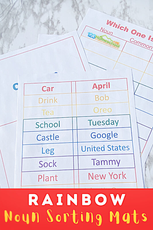 It is widely known that a noun is a person place or thing. It doesn't stop there though. Teaching children the difference between proper and common nouns does not have to be difficult or boring! Thiscommon and proper noun sort is a great parts of speech activity for first grade, 2nd grade, and 3rd grade students. Use this as a hands-on game or no-prep common and proper nouns worksheets. Either way, simply download pdf file with common and proper noun sort game and you are ready to have fun learning together with acommon noun and proper noun sorting activity.